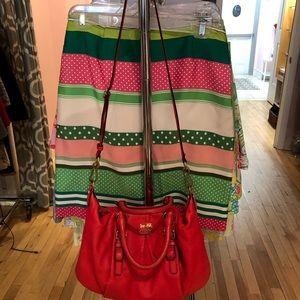 Coral Coach handbag with long detachable strap😊